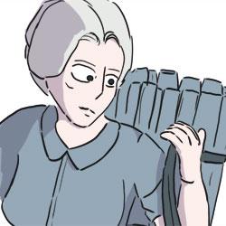 Maria aus Harkau mit einem Buckelkorb