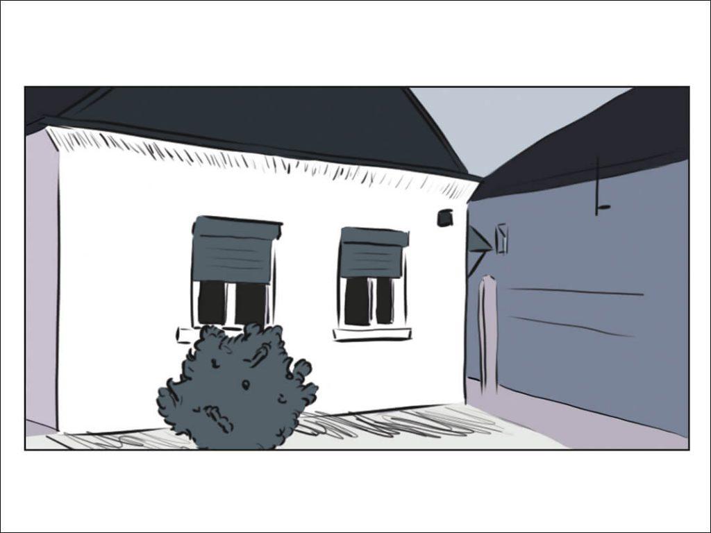 Ein Wohnhaus in Harkau