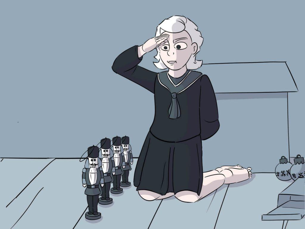 Luise aus Harkau kommandiert eine Brigade Nussknacker