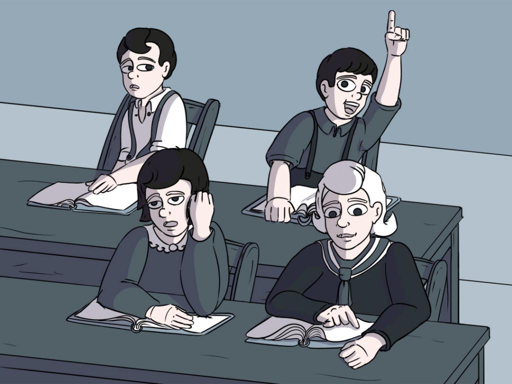Illustration der Sitzordnung in der Harkauer Grundschule